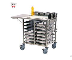 Stainless Steel Serving Trolley With Workshop