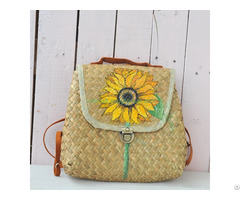 Sell Seagrass Handwoven Fashion Backpack