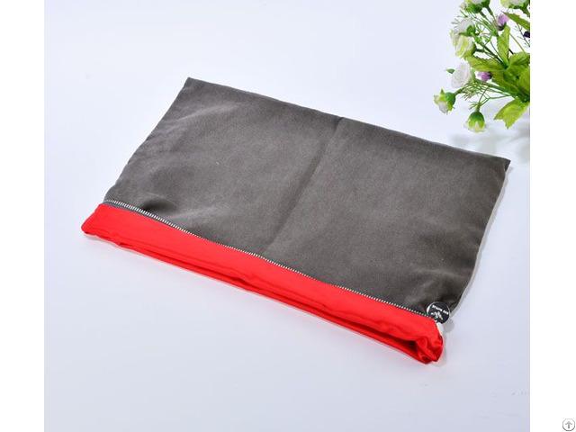 Large Velvet Satin Zipper Pouch For Garment Shoes