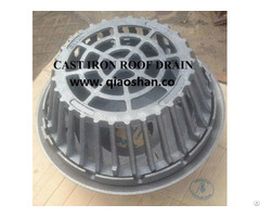 Qsf15 1 4 Inches Large Sump Cast Iron Roof Drain With No Hub Outlet