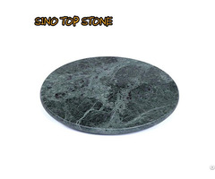 Green Marble Round Serving Board