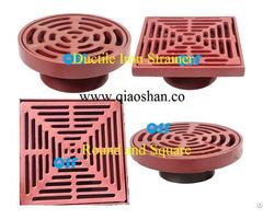 Round And Square Ductile Iron Strainer Floor Drains