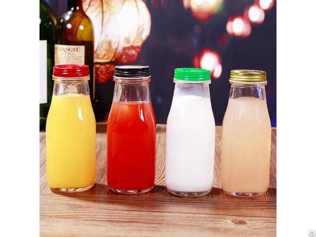 10oz Glass Milk Bottle