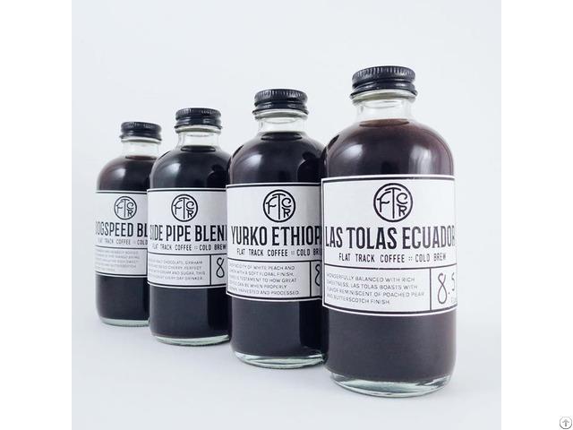 Clear Glass Boston Round Bottle