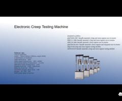 Electronic Creep Testing Machine