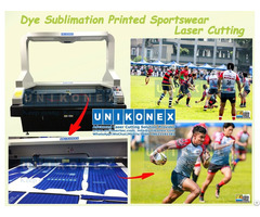 Dye Sublimation Printed Sportswear Laser Cutting By Unikonex