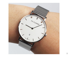 F001 A 316l Stainless Steel Case Sapphire Glass Watches Swiss Ronda Quartz Watch From Lady Women