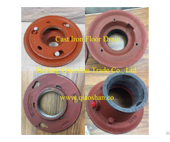 """Qsf1100 Series Cast Iron Floor Drain Body With 2"""" 6""""no Hub And Push On Outlet"""