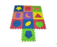 Non Toxic Children Eva Shapes Floor Puzzle Play Mat