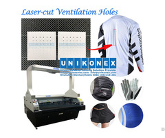 Laser Cut Ventilation Hole In Dye Sublimation Printed Sports Jersey