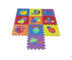 Non Toxic Eva Fruits And Vegetables Baby Play Floor Mat Puzzle