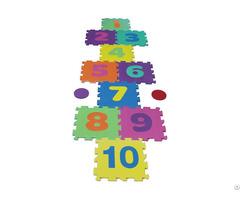 Odorless Eva Foam Kids Hopscotch Puzzle Mat