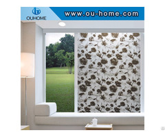 Bt8060 Black Lotus Decorative Stained Glass Film