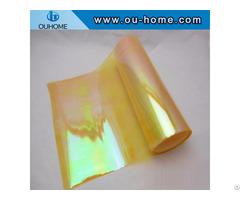 Bt206 Holographic Pvc Vinyl Yellow Iris Film