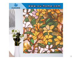 H837 Static Cling Stained Glass Window Film Decoration