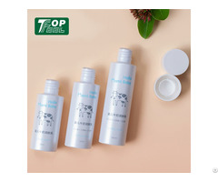 Pet Silkscreen Printing White Cylinder Bottle For Cosmetic Packaging