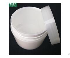 In Stock Empty Double Layer Pp White Cream Jar