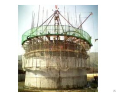 Hydraulic Electrical Lifting Formwork Platform System For Chimney Of Cement Plant Supplier