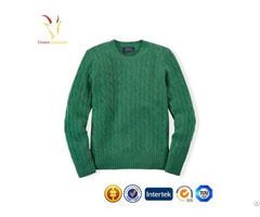 Cable Design Wool Cashmere Sweater For Kids