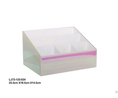 Pink Heart Packaging Girl Jewelry Clear Glass Ring Box