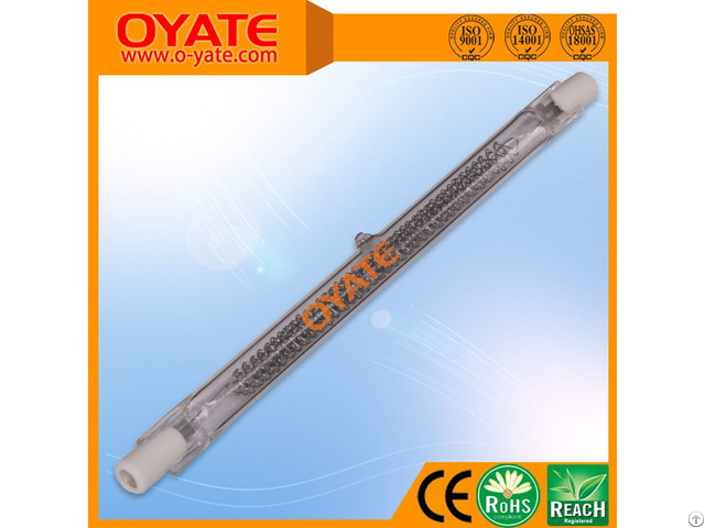 1600w Fast Medium Wave Halogen Heating Lamps For Screen Printing Drying