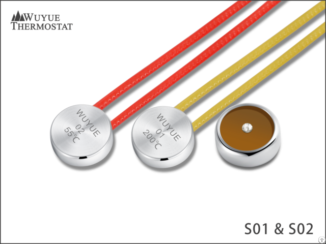 Ts 01 02 Button Type Thermal Protector