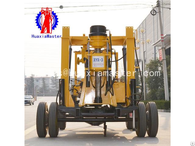 Xyx 3 Wheeled Hydraulic Core Drilling Rig