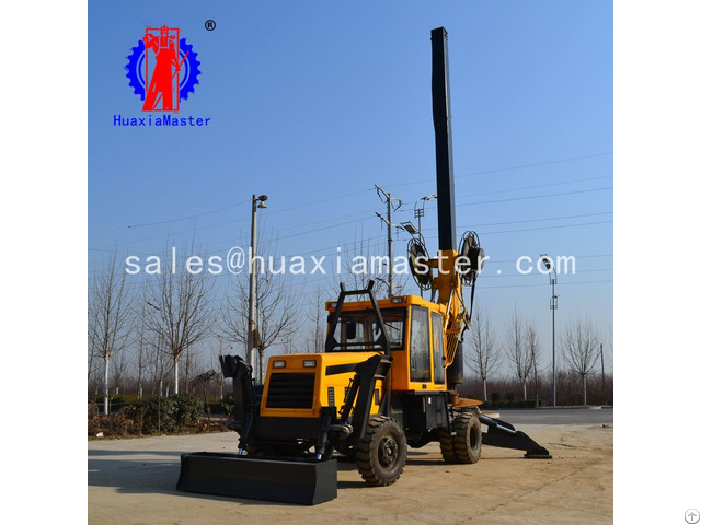 Xwl 13 5h Meters Weeled Rotary Pile Drilling Rig