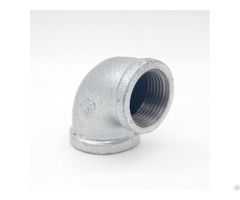 Gi Pipe Fittings Malleable Iron Equal And Reducing Tube Joint Elbows