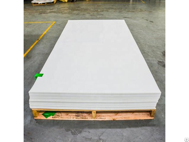 White 4x8 Anti Scratch 0 8mm Plastic Rigid Sheet For Kitchen Cabinet