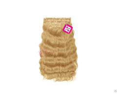 Clip In Body Wavy Hair Blonde Color
