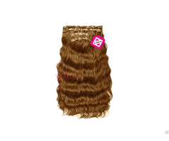 Clip In Body Wavy Hair Light Brown Color