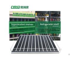 Supermarket Display Merchandise Shelf Pusher System Flex Gravity Roller