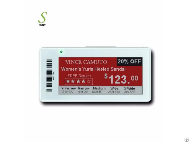 Suny 2 9inch Retail Wireless Eink Digital Epaper Price Tag Electronic Shelf Label Esl