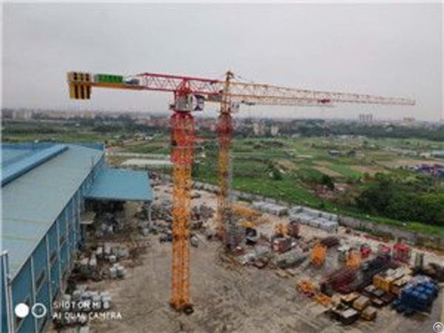Qtp200 Tct7021 Trustworthy Self Erecting Fixed Hydraulic Construction Building Tower Crane