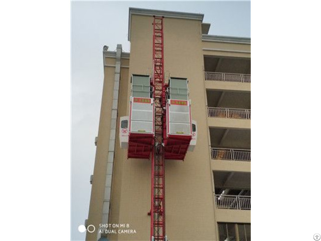 Sc200 200bz Middle Speed Building Construction Lifting Elevator Hoist