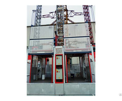 Building Construction Double Cage Equipment Hoist