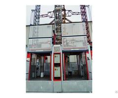 Building Construction Double Cage Equipment Hoist
