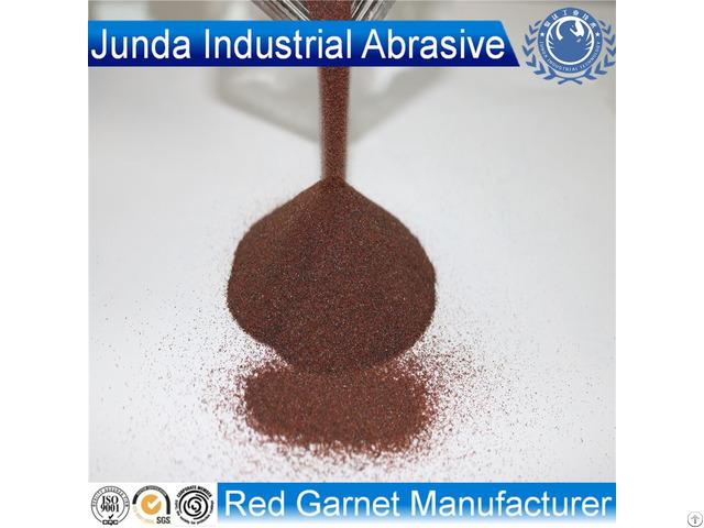 Garnet Sand 30 60 Mesh Abrasives For Oil Tank Rust Sandblasting