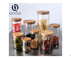 Fda Glass Storage Jar With Bamboo Lid