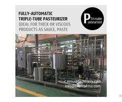 Triple Tube Heat Exchanger Tubular Sterilizer Sauce Paste Pasteurizer