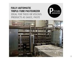 Fully Automatic Triple Tube Sterilization Machine Tubular Pasteurizer