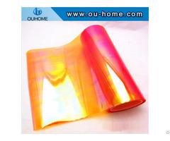 Bt213 Pvc Transparent Composite Orange Rainbow Film