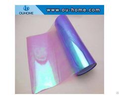 Bt210 Transparent Color Laminated Purple Rainbow Film