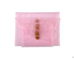 Organza Present Envelope Bag With Button