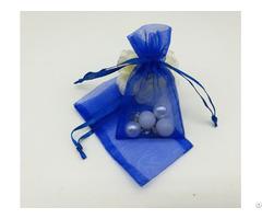 Royal Blue Organza Jewelry Pouch
