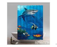 Beautiful Underwater World Great White Shark Shower Curtain