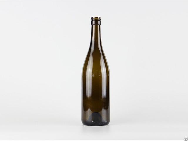 750ml Glass Burgundy Wine Bottle 2119