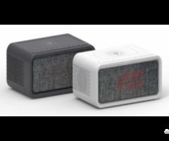 Qi Alarm Clock Radio With Bt Speaker