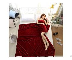 Home Textile Soft Solid Fleece Flannel Blanket Sofa Bedding